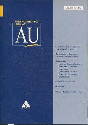 ARRENDAMIENTOS URBANOS AU ABRIL 2001 Nº 213: VV.AA.