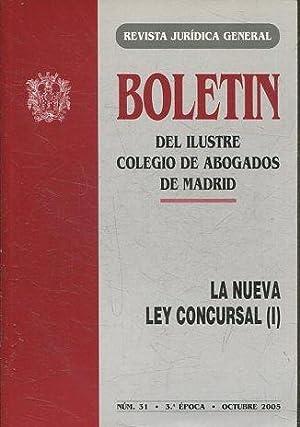 BOLETIN DEL ILUSTRE COLEGIO DE ABOGADOS DE: VV.AA.