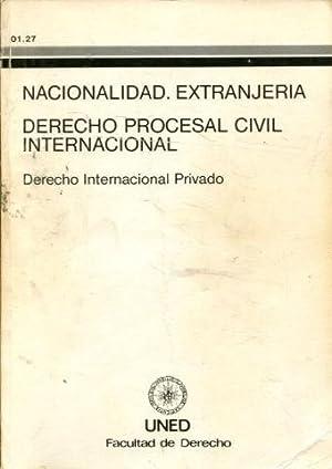 NACIONALIDAD. EXTRANJERIA. DERECHO PROCESAL CIVIL INTERNACIONAL. DERECHO