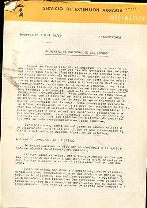 ALIMENTACION RACIONAL DE LAS CABRAS.