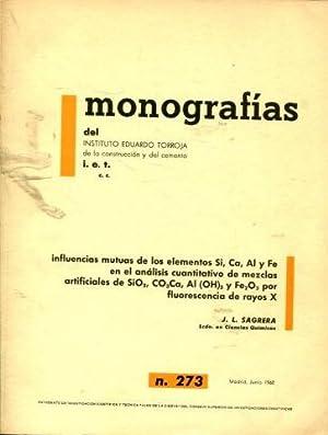 INFLUENCIAS MUTUAS DE LOS ELEMENTOS SI, CA,: SAGRERA, J.L.