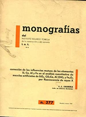 CORRECCION DE LAS INFLUENCIAS MUTUAS DE LOS: SAGRERA, J.L.