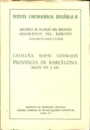 FUENTES CARTOGRÁFICAS ESPAÑOLAS. II: ARCHIVO DE PLANOS DEL SERVICIO GEOGRÁFICO...