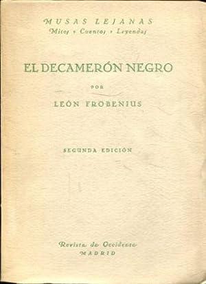 EL DECAMERON NEGRO.: FROBENIUS, Leon.