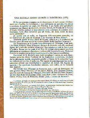UNA BATALLA ENTRE NOBLES A BARCELONA (1379).: COSTA, Maria Merce.