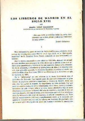 LOS LIBREROS DE MADRID EN EL SIGLO: AMAT CALDERON Elena.