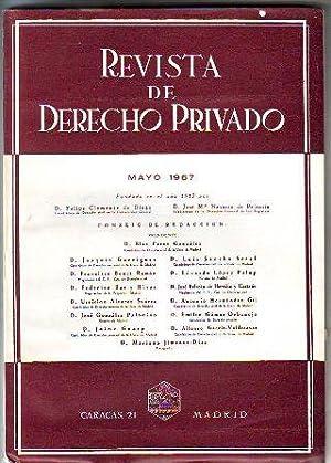 REVISTA DE DERECHO PRIVADO. MAYO 1967.