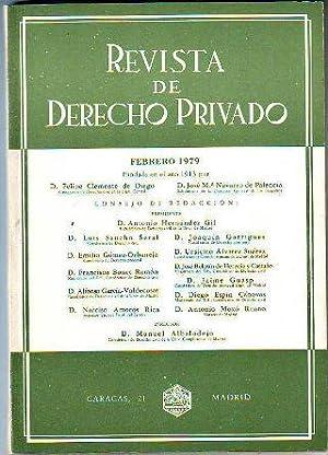 REVISTA DE DERECHO PRIVADO. FEBRERO 1979.