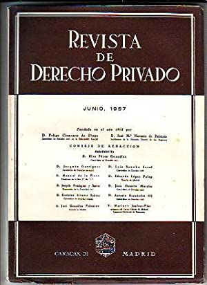 REVISTA DE DERECHO PRIVADO. JUNIO 1957.