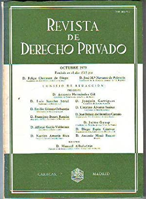 REVISTA DE DERECHO PRIVADO. OCTUBRE 1979.
