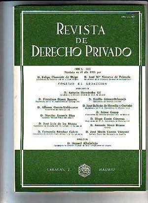 REVISTA DE DERECHO PRIVADO. ABRIL 1983.