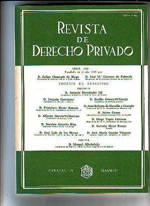 REVISTA DE DERECHO PRIVADO. ABRIL 1981.