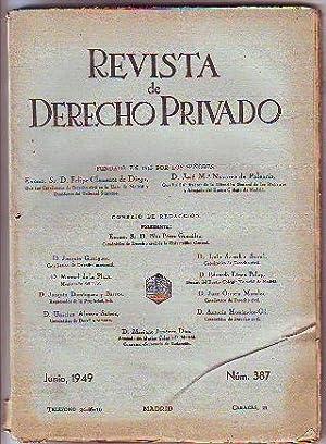 REVISTA DE DERECHO PRIVADO. JUNIO 1949.