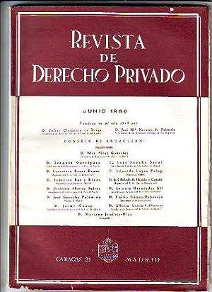 REVISTA DE DERECHO PRIVADO. JUNIO 1968.