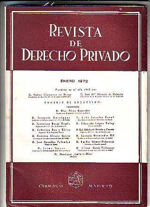REVISTA DE DERECHO PRIVADO. ENERO 1972.