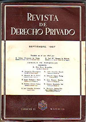 REVISTA DE DERECHO PRIVADO. SEPTIEMBRE 1957.