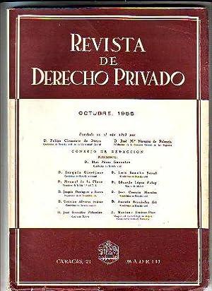 REVISTA DE DERECHO PRIVADO. OCTUBRE 1955.