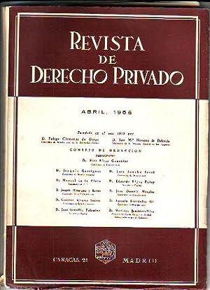 REVISTA DE DERECHO PRIVADO. ABRIL 1955.