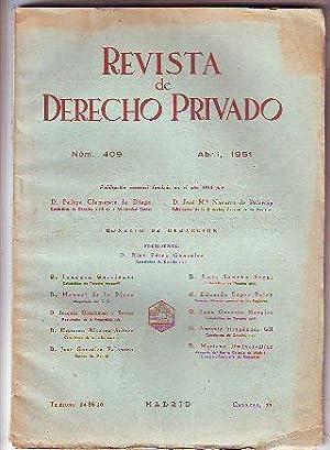 REVISTA DE DERECHO PRIVADO. ABRIL 1951.