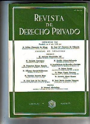REVISTA DE DERECHO PRIVADO. SEPTIEMBRE 1982.