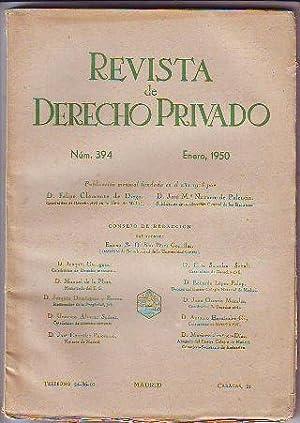 REVISTA DE DERECHO PRIVADO. ENERO 1950.