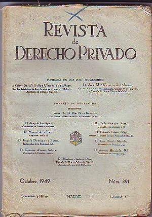 REVISTA DE DERECHO PRIVADO. OCTUBRE 1949.