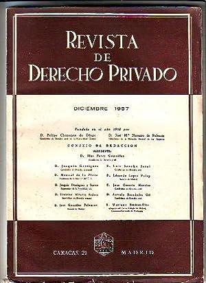 REVISTA DE DERECHO PRIVADO. DICIEMBRE 1957.