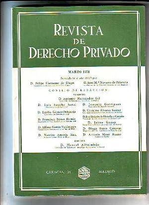 REVISTA DE DERECHO PRIVADO. MARZO 1978.