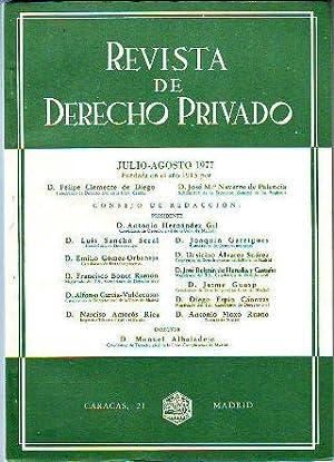 REVISTA DE DERECHO PRIVADO. JULIO-AGOSTO 1977.