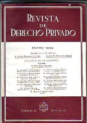 REVISTA DE DERECHO PRIVADO. ENERO 1968.