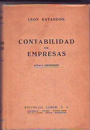 CONTABILIDAD DE EMPRESAS.: BATARDON, Leon.