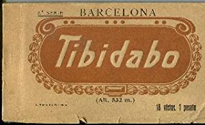 ALBUM DE POSTALES DE BARCELONA: TIBIDABO, 18 VISTAS/OLD POSTCARDS ALBUM OF BARCELONA: TIBIDABO, 1...