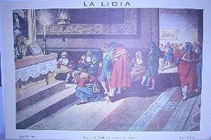 LA LIDIA. CAPILLA DE LOS TOREROS (POR LOS AÑOS 1801 A 1806). LAMINA FACSIMIL. (LIT. DE ...