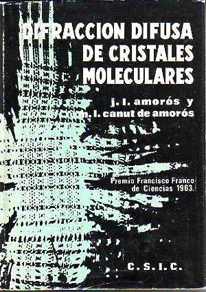 LA DIFRACCIÓN DIFUSA DE LOS CRISTALES MOLECULARES.: AMORÓS, José Luis.