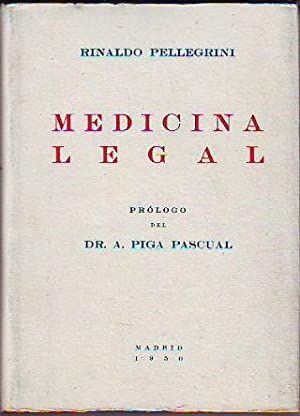 MEDICINA LEGAL.: PELLEGRINI, Rinaldo.