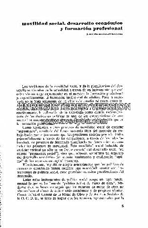 MOVILIDAD SOCIAL, DESARROLLO ECONOMICO Y FORMACION PROFESIONAL.: MARAVALL HERRERO, J.