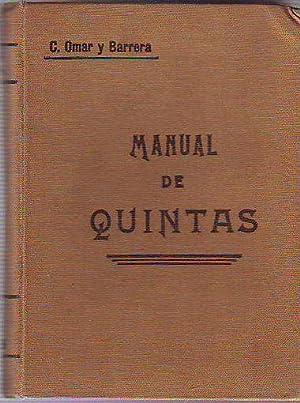 MANUAL DE QUINTAS.: OMAR Y BARRERA,