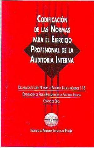 CODIFICACION DE LAS NORMAS PARA EL EJERCICIO: INSTITUTO DE AUDITORES