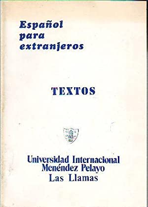 CURSO DE ESPAÑOL PARA EXTRANJEROS. TEXTOS.: SANCHEZ LOBATO/FERNANDEZ VALLINA/GALAN