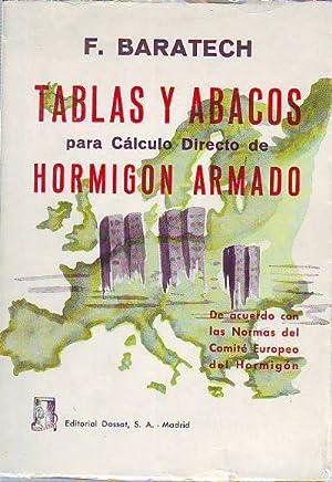TABLAS Y ABACOS PARA CALCULO DIRECTO DE HORMIGON ARMADO DE ACUERDO CON LAS NORMAS DEL COMITÉ...