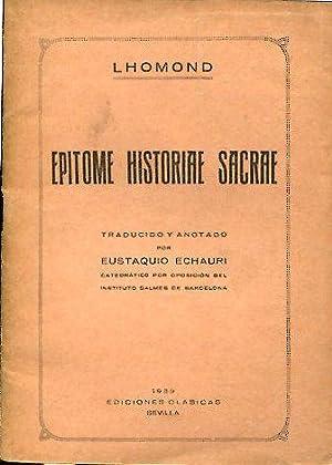 EPITOME HISTORIAE SACRAE.: LHOMOND.