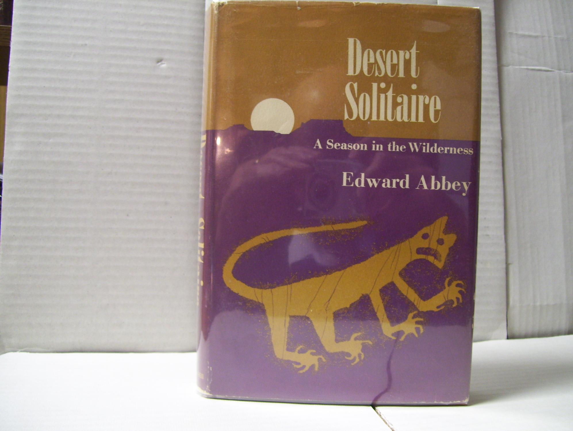 desert solitaire by edward abbey first edition abebooks