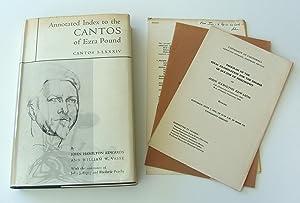 Annotated Index to the Cantos of Ezra: Pound, Ezra]. Edwards,