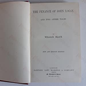 Shandon Bells; The Penance of John Logan and Two Other Tales (2 vols): Black, William