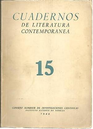 CUADERNOS DE LITERATURA CONTEMPORANEA. N. 15. DON JACINTO BENAVENTE.: REVISTA.