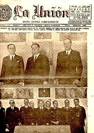 LA UNION. DIARIO GRAFICO INDEPENDIENTE. AÑO XIX. N. 7029. 30-ABRIL-1937.: PERIODICO.