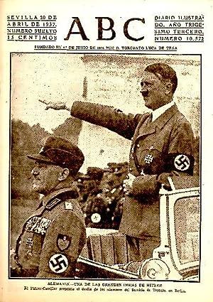 ABC. DIARIO ILUSTRADO. AÑO XXXIII. N. 10572. 20-ABRIL-1937.: PERIODICO.