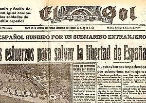 EL SOL. DIARIO DE LA MAÑANA DEL PARTIDO COMUNISTA DE ESPAÑA. AÑO I. N. 7. 6-...