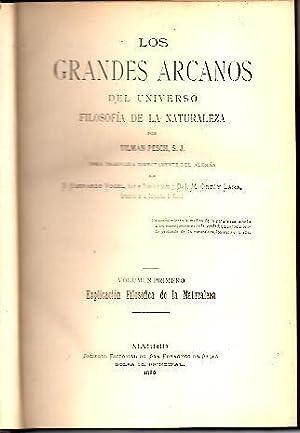 LOS GRANDES ARCANOS DEL UNIVERSO, FILOSOFIA DE: PESCH, Tilmann.