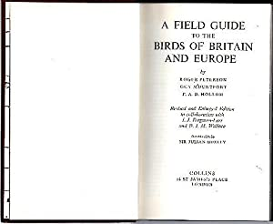 A FIELD GUIDE TO THE BIRDS OF: PETERSON, Roger. MOUNTFORT,